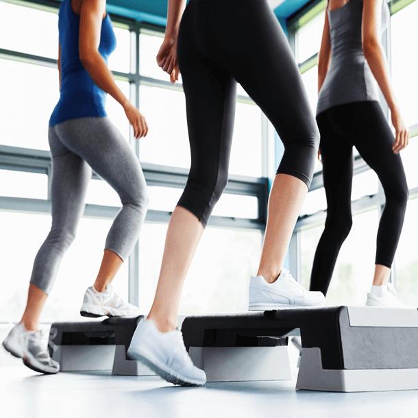 Step Aerobic Class